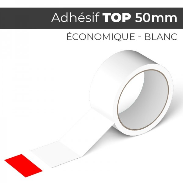 HOT Blanc 50mm - Ruban Adhésif Colle Acrylic