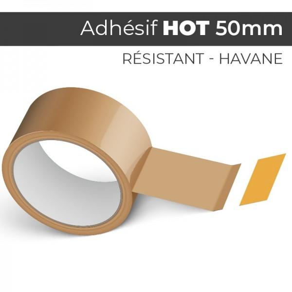 HOT Havane 50mm - Ruban Adhésif Colle Hotmelt