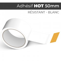 HOT Blanc 50mm - Ruban Adhésif Colle Hotmelt